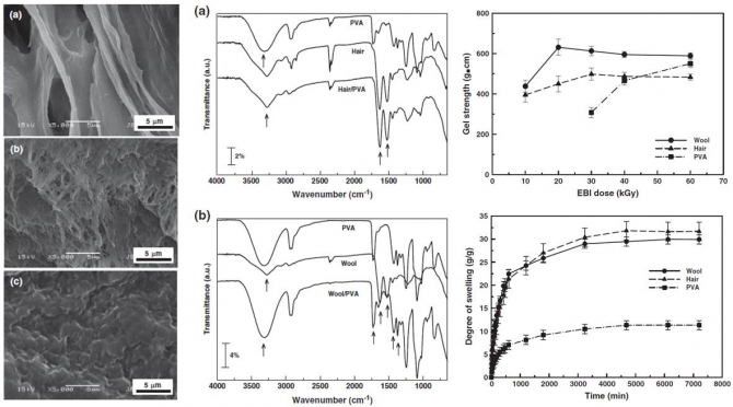 Preparation and characterization of keratin-based biocomposite hydrogels prepared by electron beam irradiation