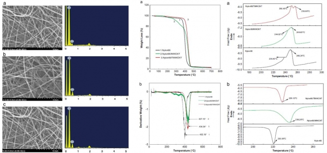 Mechanical behavior of electrospun Nylon66 fibers reinforced with pristine and treated multi-walled carbon nanotube fillers